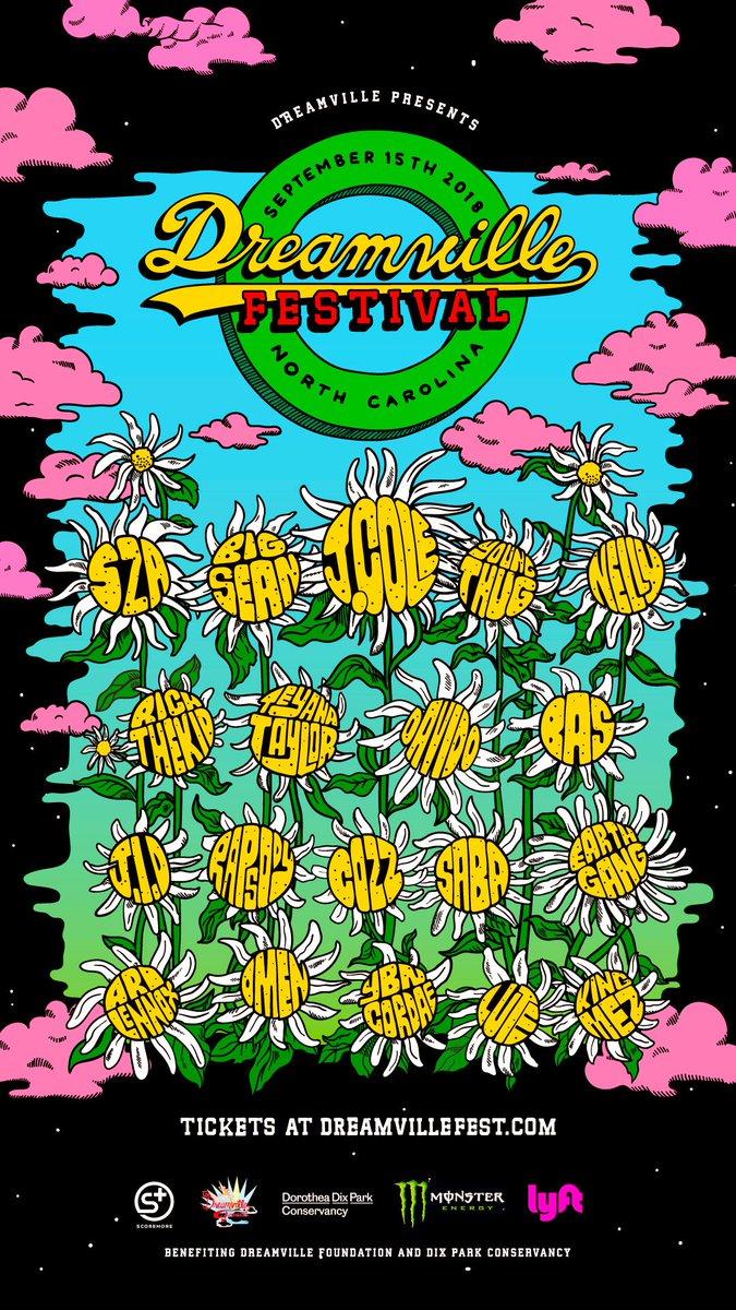 DREAMVILLE FEST LINEUP — Dreamville
